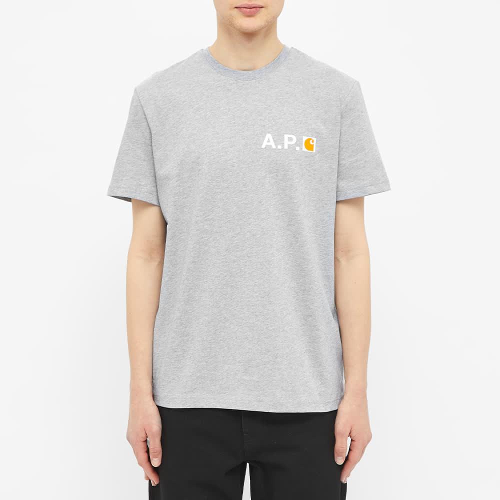 A.P.C. x Carhartt WIP Fire Logo Tee - Grey Melange