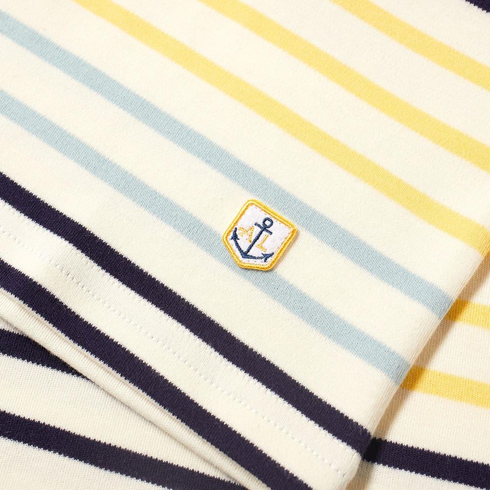 Armor-Lux Long Sleeve Multi Stripe Tee - Natural, Blonde, Navy & Mint