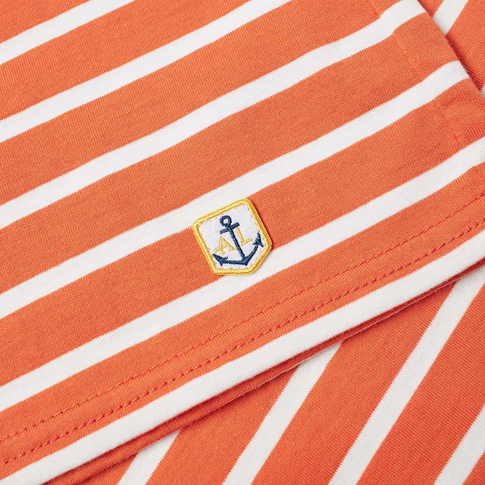 Armor-Lux 73842 Mariniere Tee - Orange & White