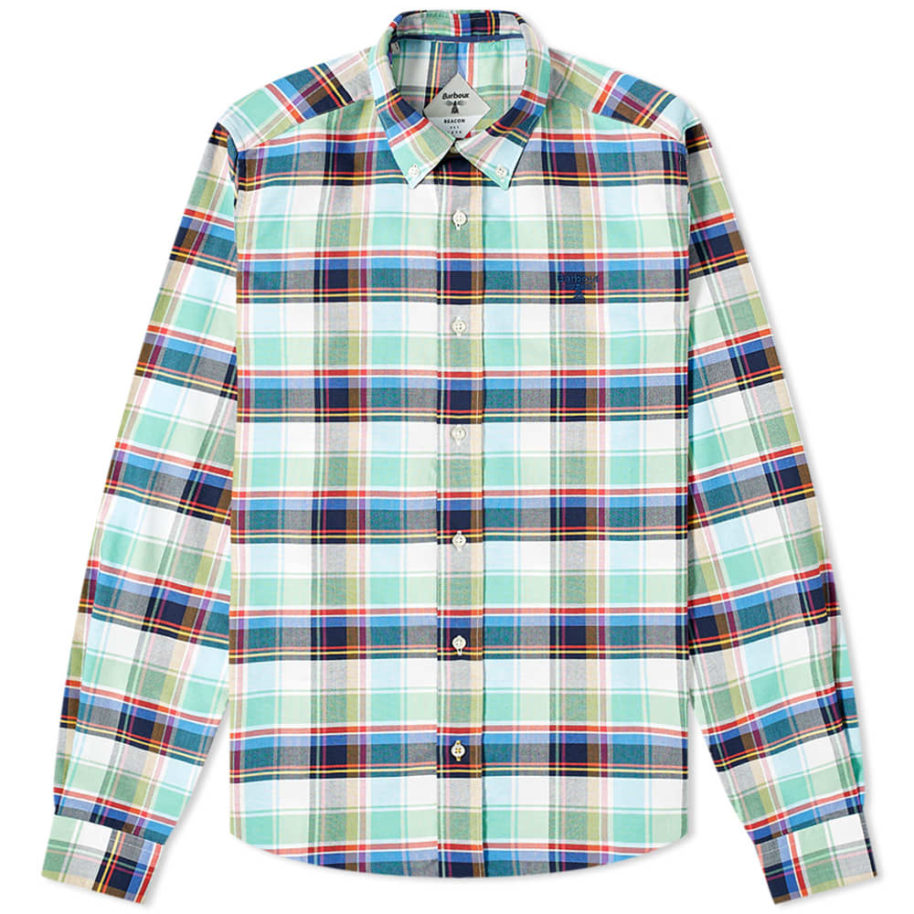 Barbour Beacon Farnham Shirt - Summer Green