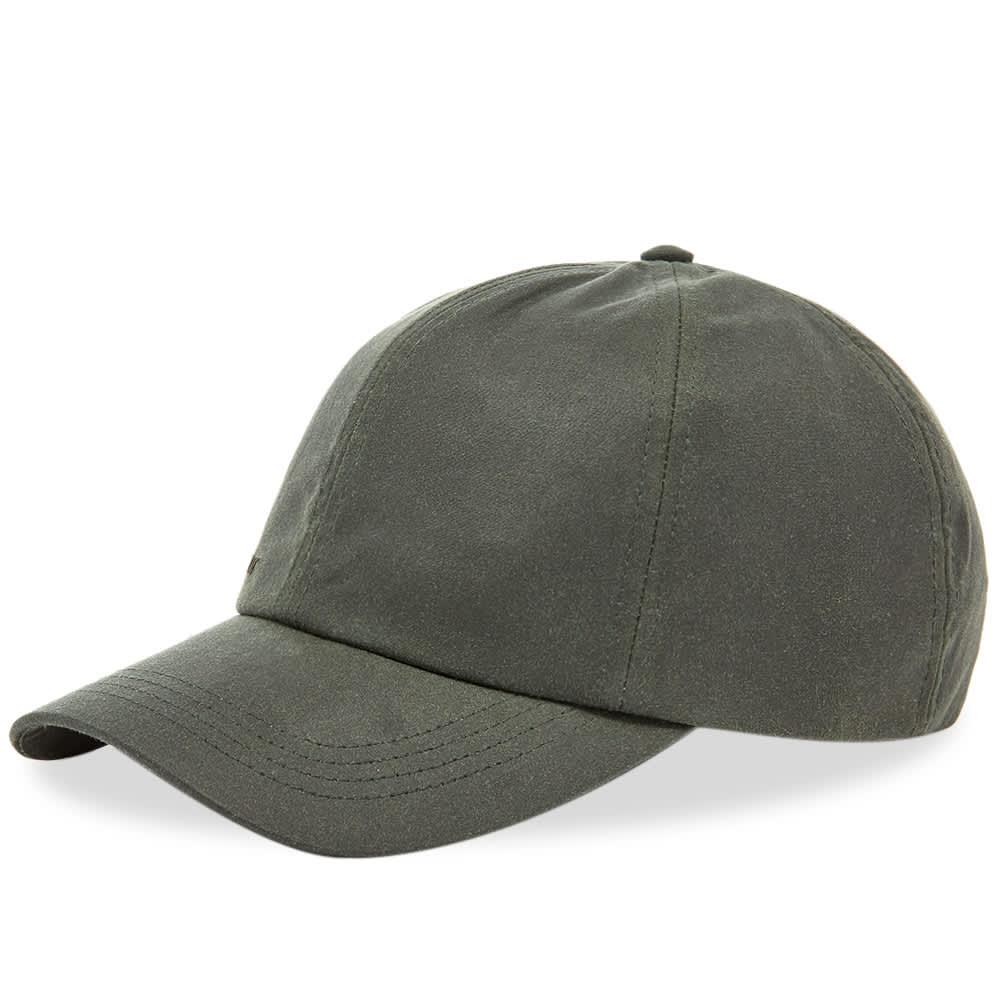 Barbour Wax Sports Cap - Sage
