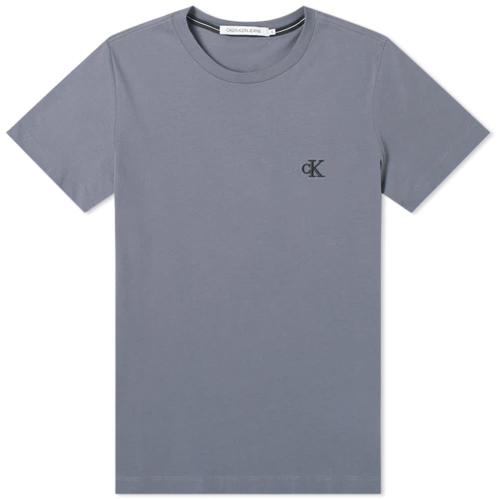 Calvin Klein Essential Logo Tee - Abstract Grey
