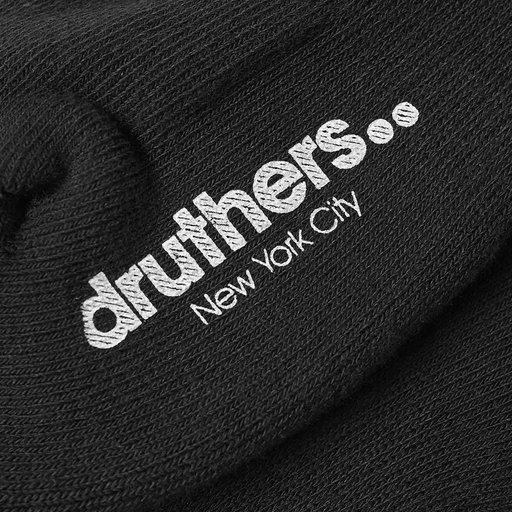 Druthers Everyday Crew Sock - Black