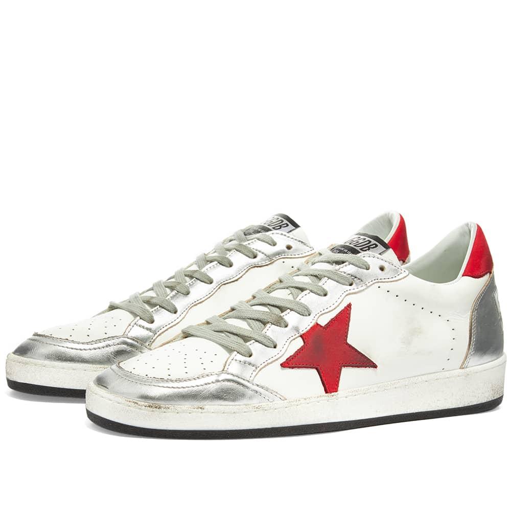 Golden Goose Ball Star Leather Sneaker - White