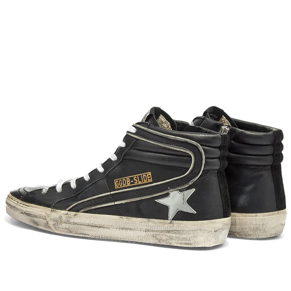 Golden Goose Slide Hi Sneaker - Black