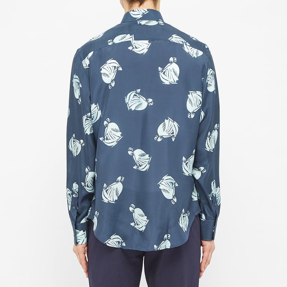 Lanvin Logo Print Shirt - Navy Blue