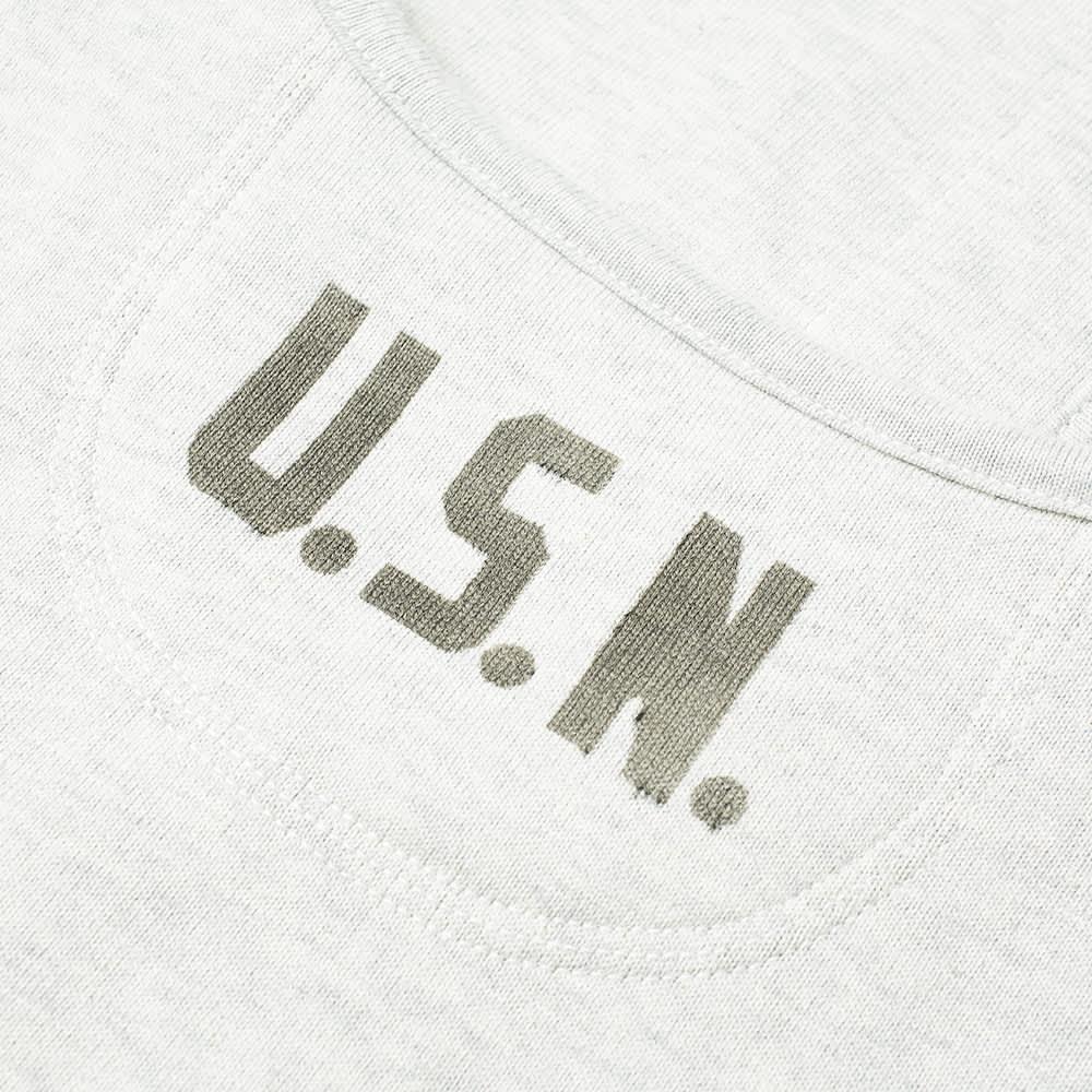 The Real McCoy's U.S.N. Loopwheel Cotton Cardigan - Snow Grey