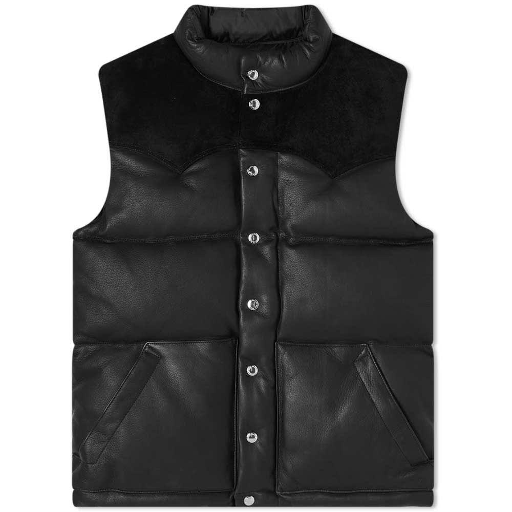 The Real McCoy's Deerskin Down Vest - Black
