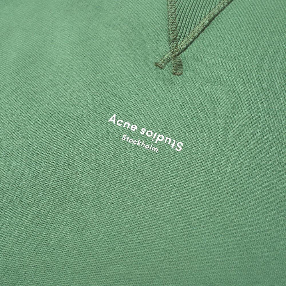 Acne Studios Fin Stamp Logo Crew Sweat - Bottle Green
