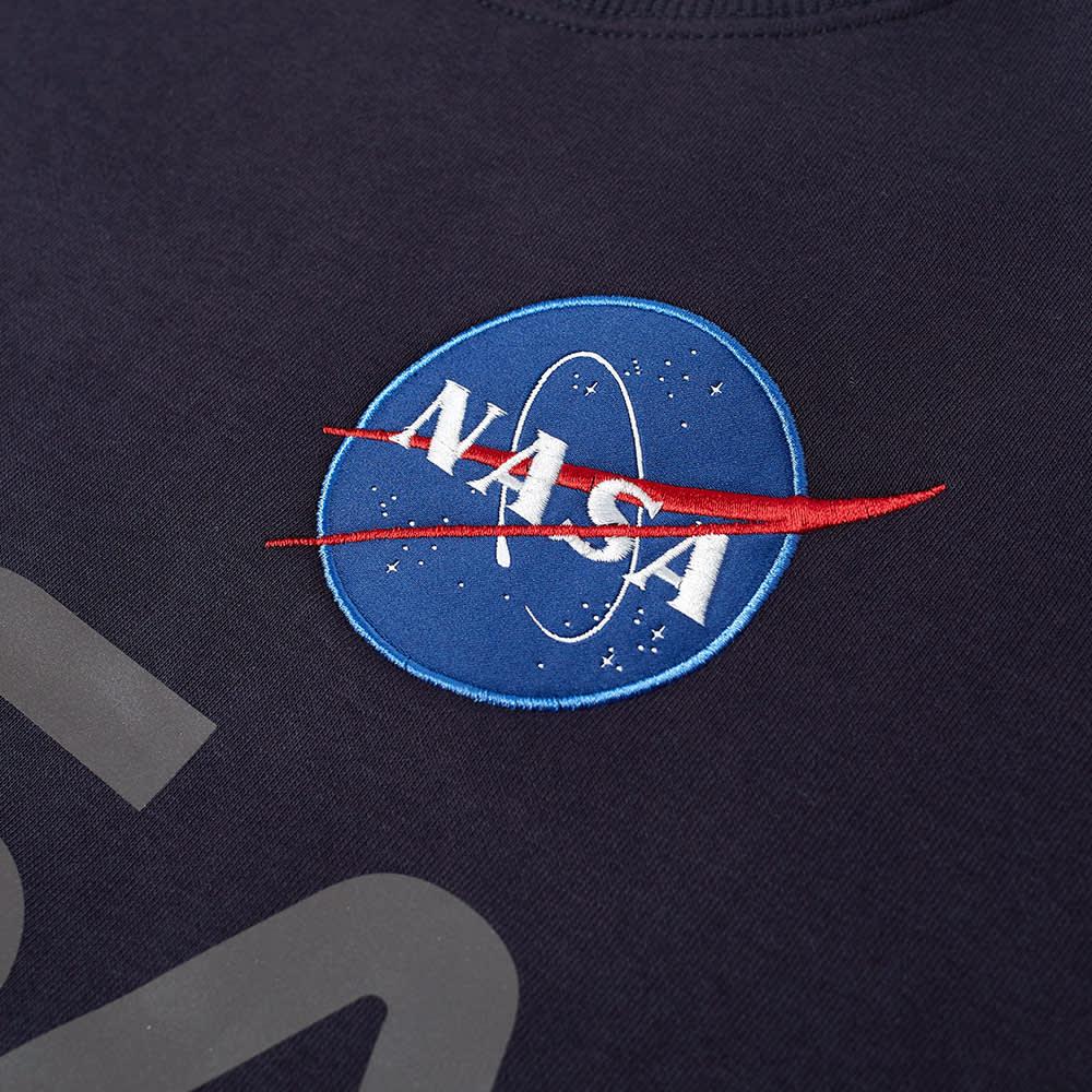 Alpha Industries NASA Reflective Crew Sweat - Replica Blue