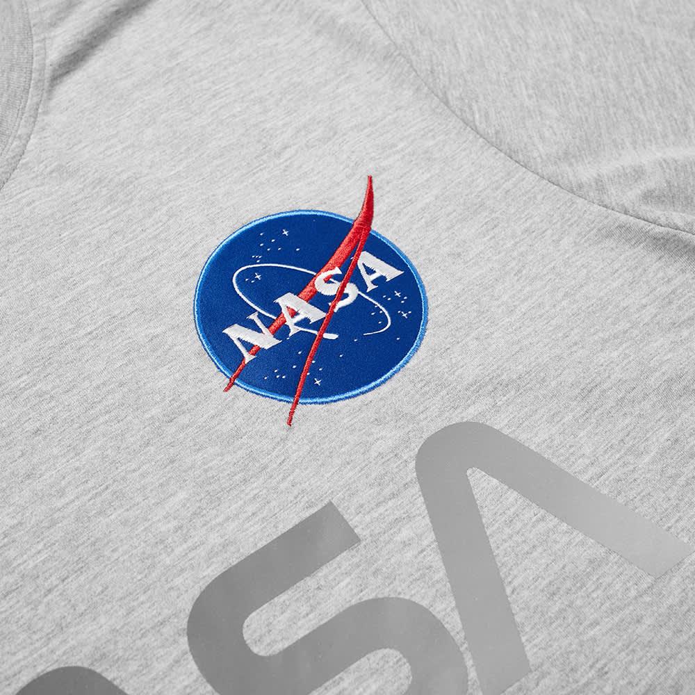 Alpha Industries NASA Reflective Tee - Grey Heather