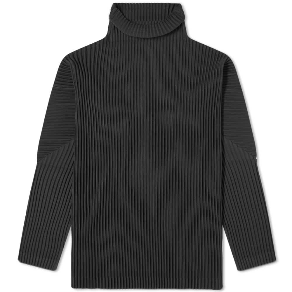 Homme Plissé Issey Miyake Pleated Roll Neck - Black