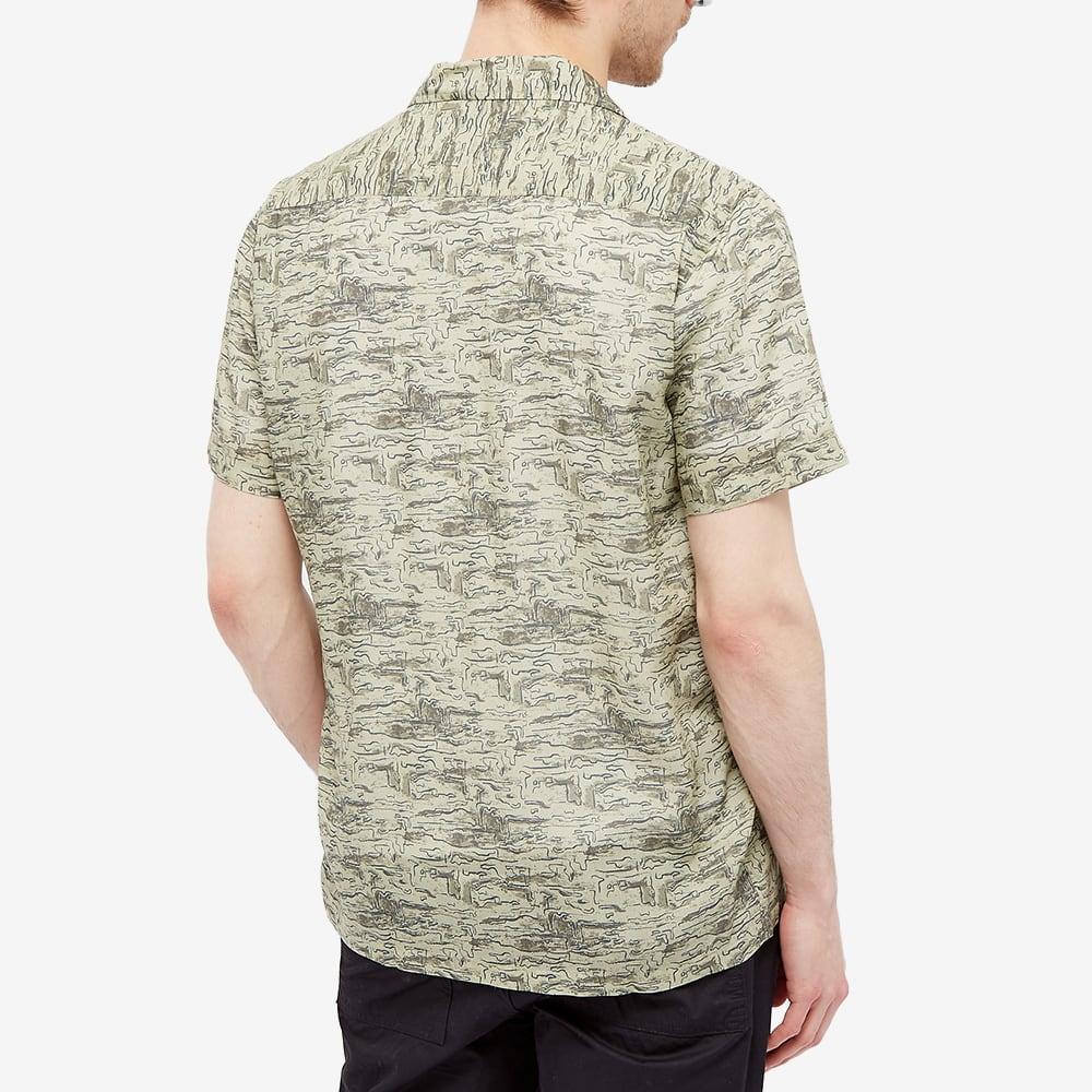 Kestin Crammond Shirt - Light Olive & Lagoon