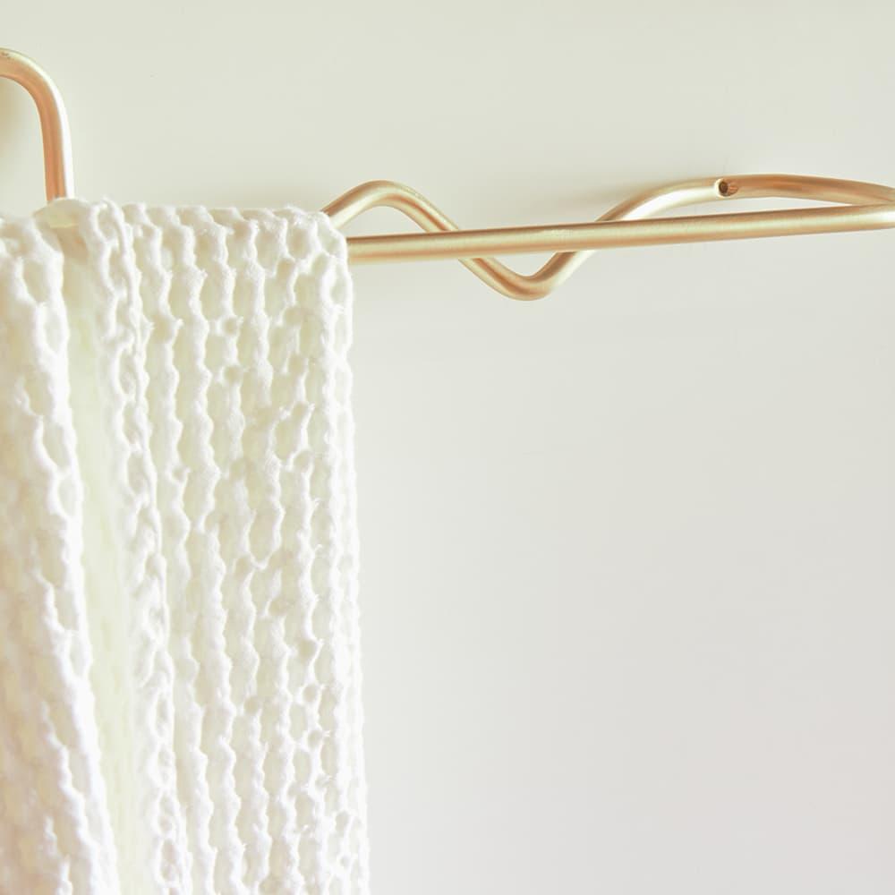 Ferm Living Curvature Towel Hanger - Brass