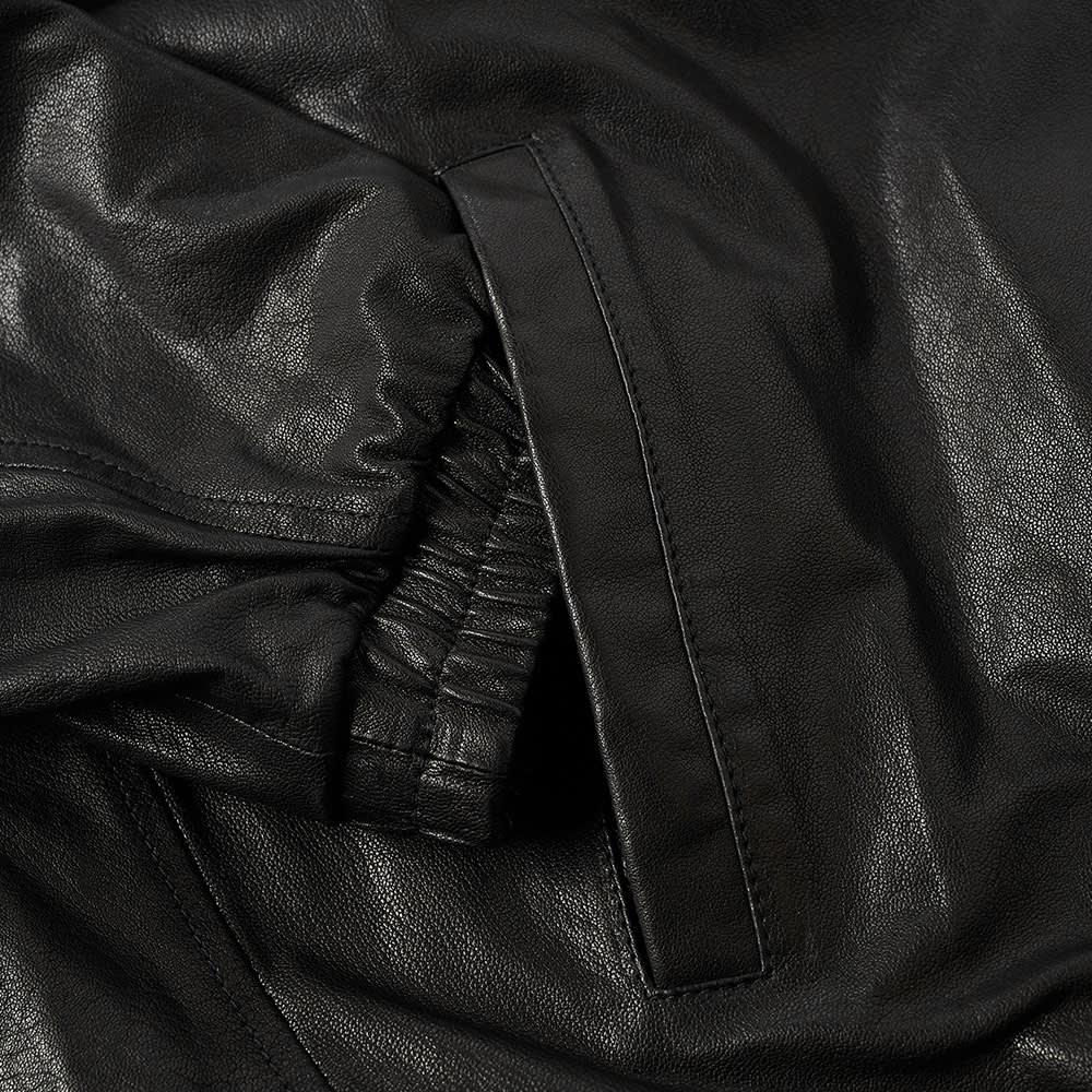 Kenzo Lambskin Hooded Leather Jacket - Black & White