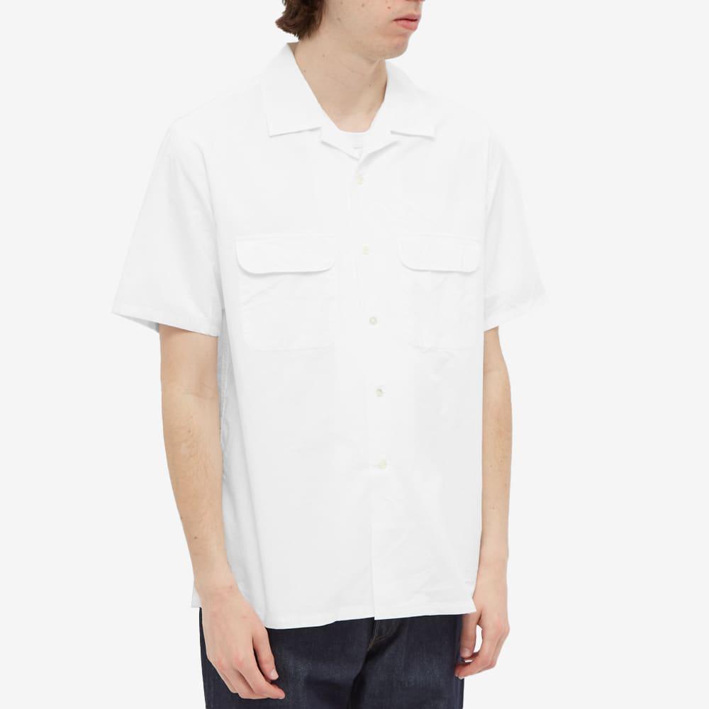 Beams Plus Short Sleeve Pima Vacation Shirt - White