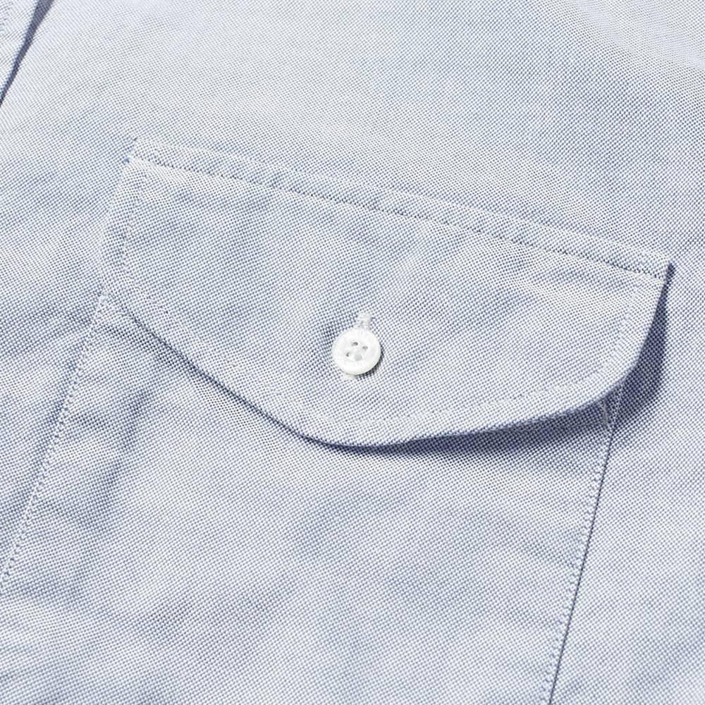 Beams Plus Short Sleeve Oxford Shirt - Sax