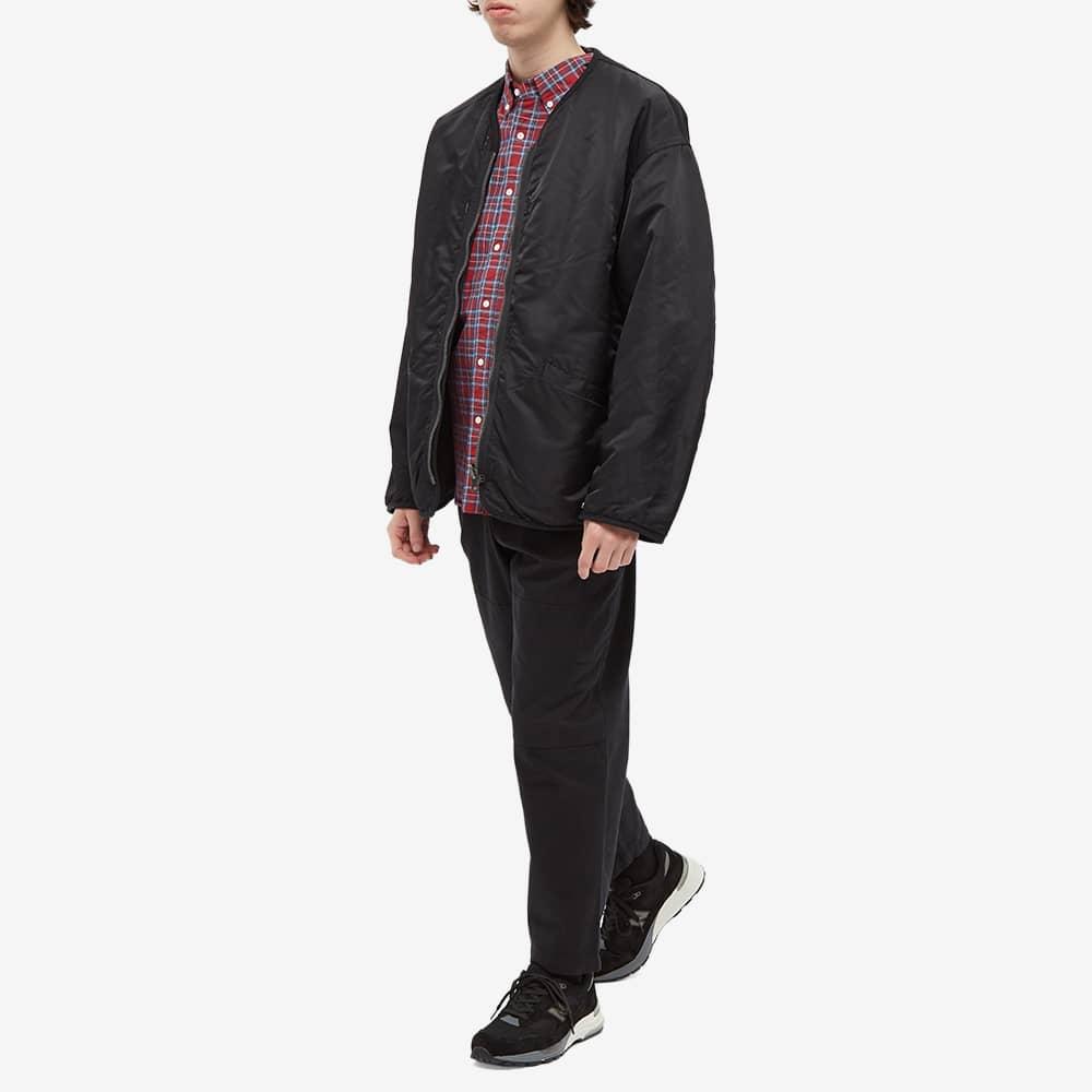 Beams Plus Short Sleeve Button Down Indigo Yarn Tartan Shirt - Red Tartan
