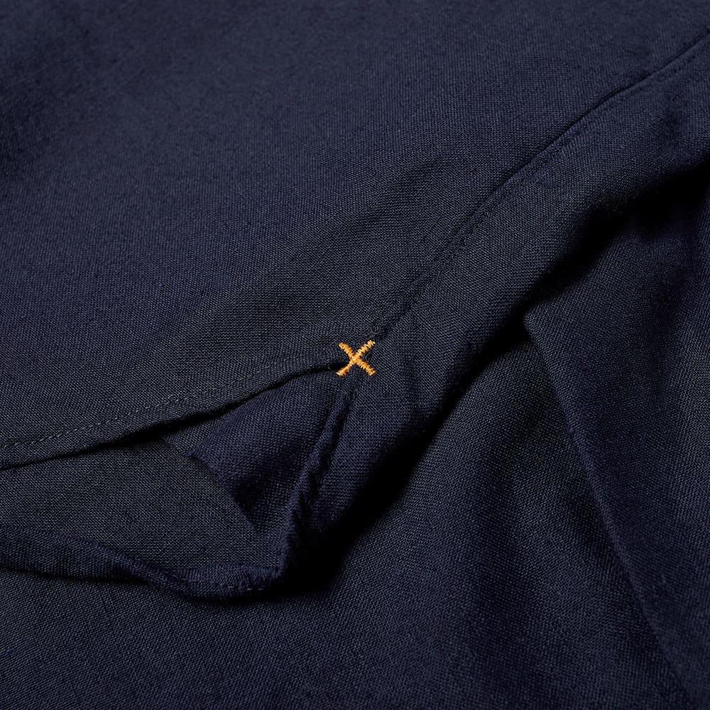 Beams Plus Short Sleeve Button Down COOLMAX® Linen Shirt - Navy