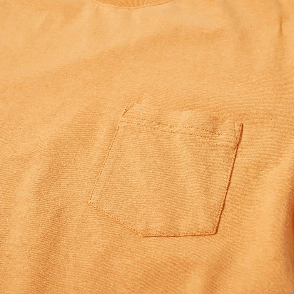 Beams Plus Hemp Cotton Pocket Tee - Orange