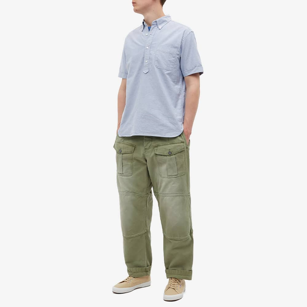 Beams Plus Short Sleeve Popover Shirt - Sax