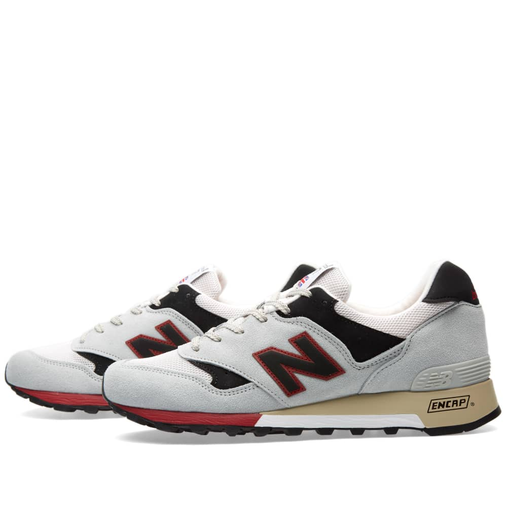New Balance M577GKR - Made in England - Grey, Black & Red