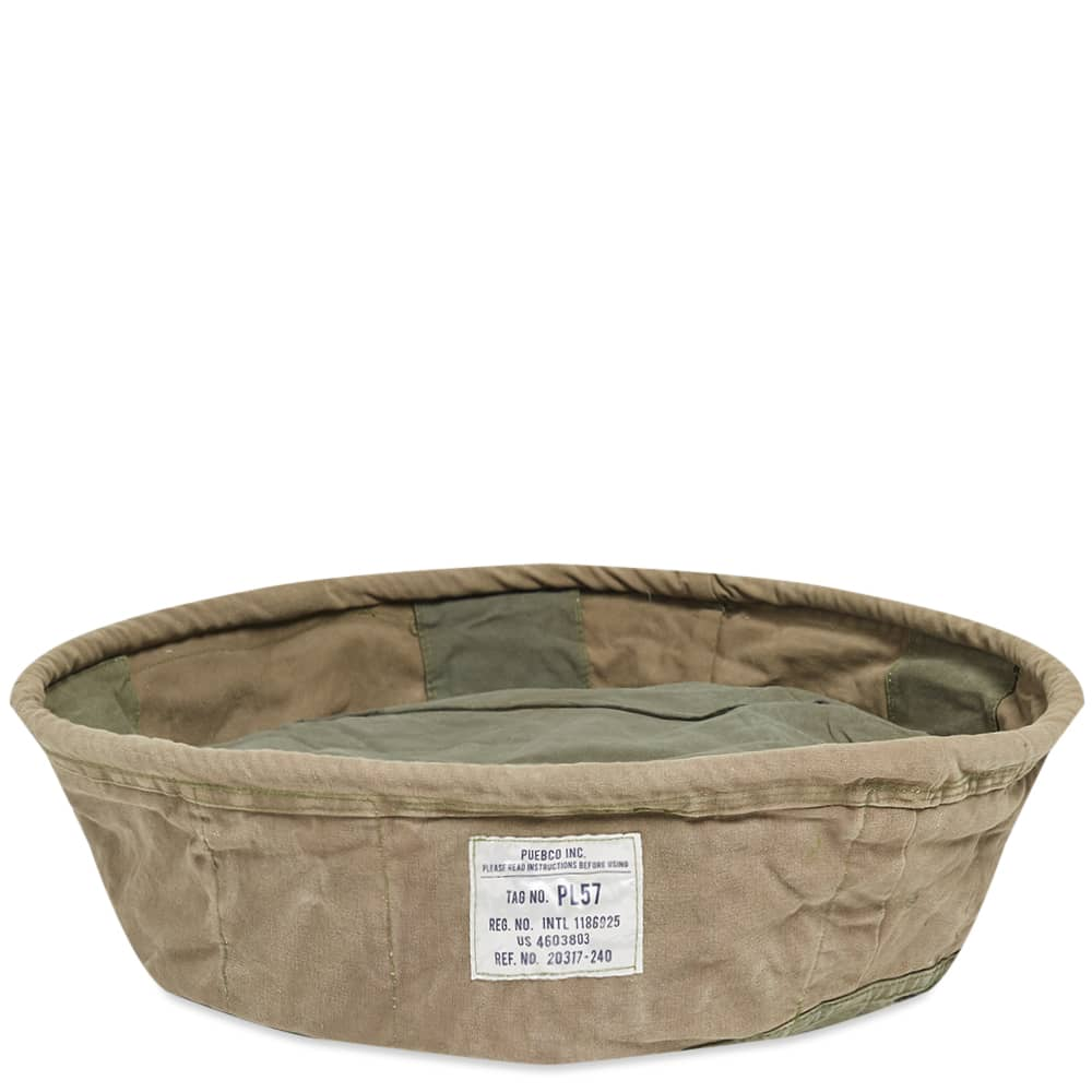 Puebco Large Vintage Tent Fabric Pet Bed - Green