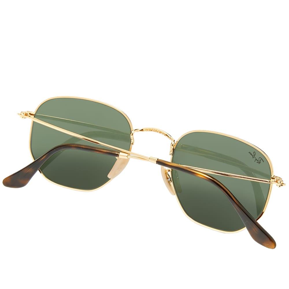 Ray Ban Hexagonal Sunglasses - Gold & Green
