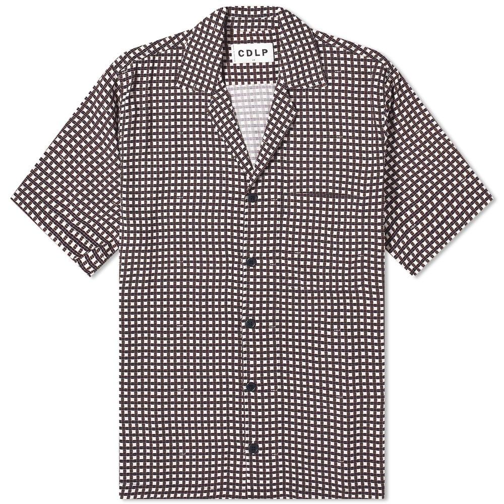 CDLP Pool Shirt - Burgundy Check