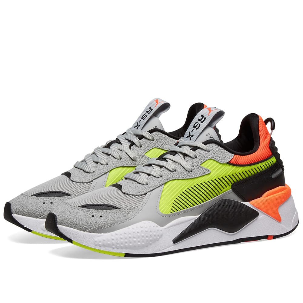 Campo microscopio Abandono  Puma RS-X Hard Drive Grey & Yellow | END.