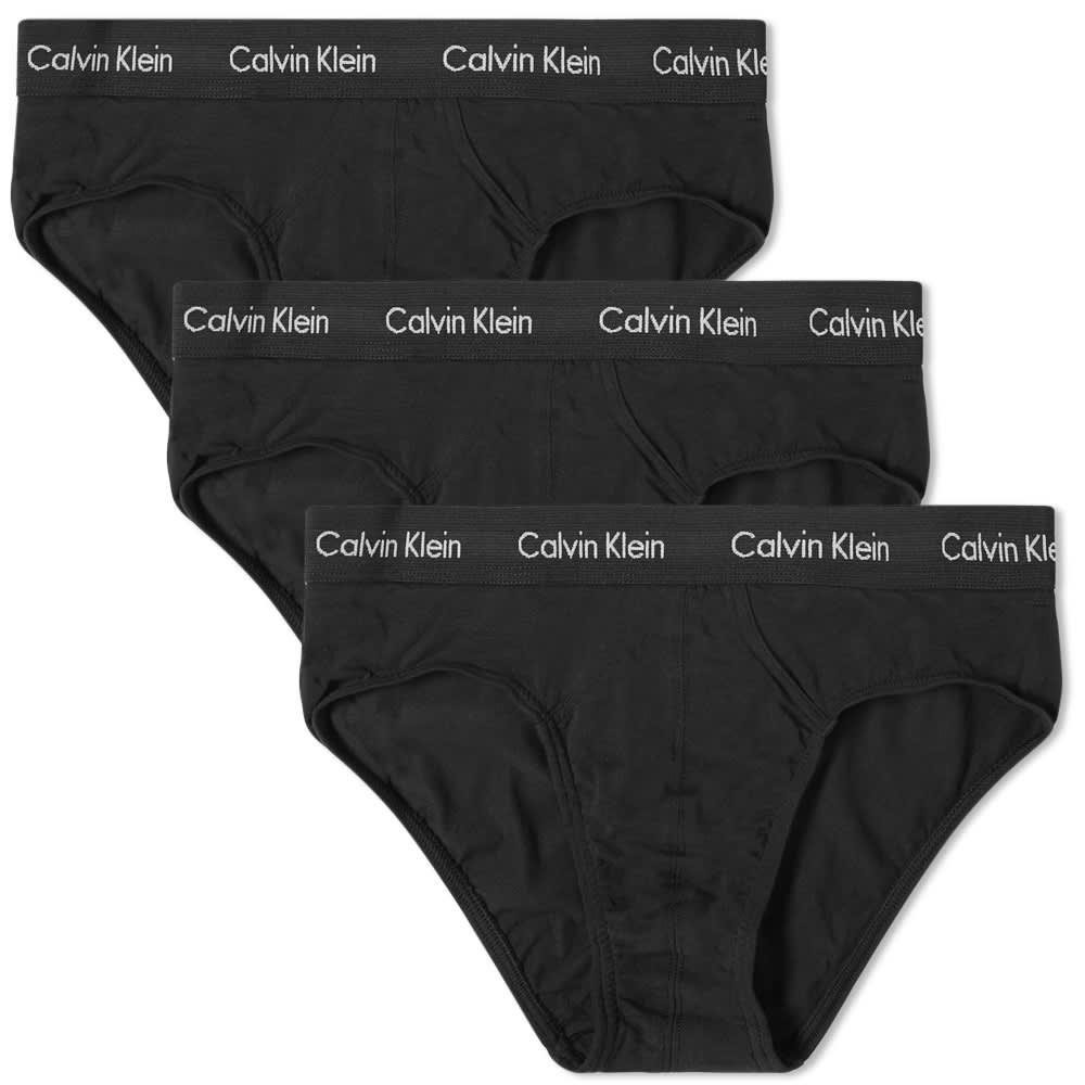 Calvin Klein Hip Brief - 3 Pack - Black