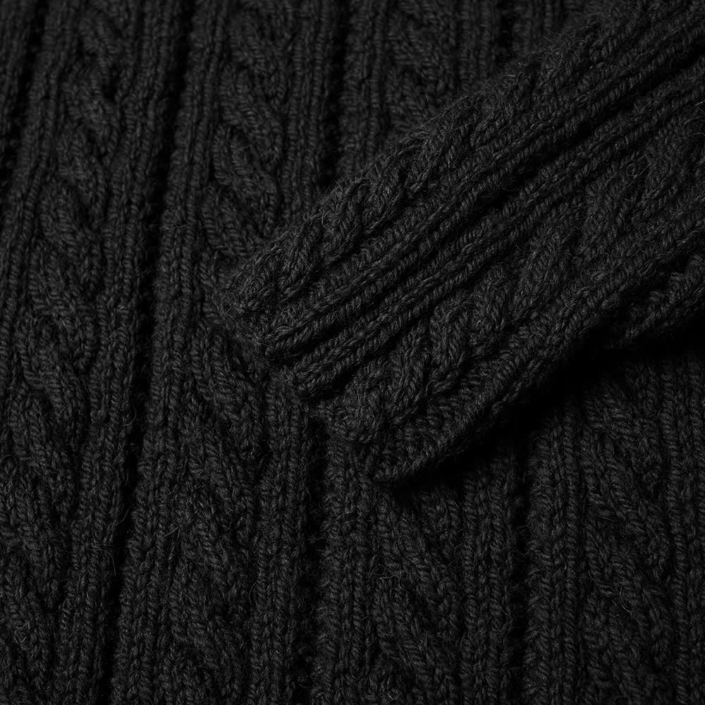 Inverallan 16P Cable Crew Knit - Black