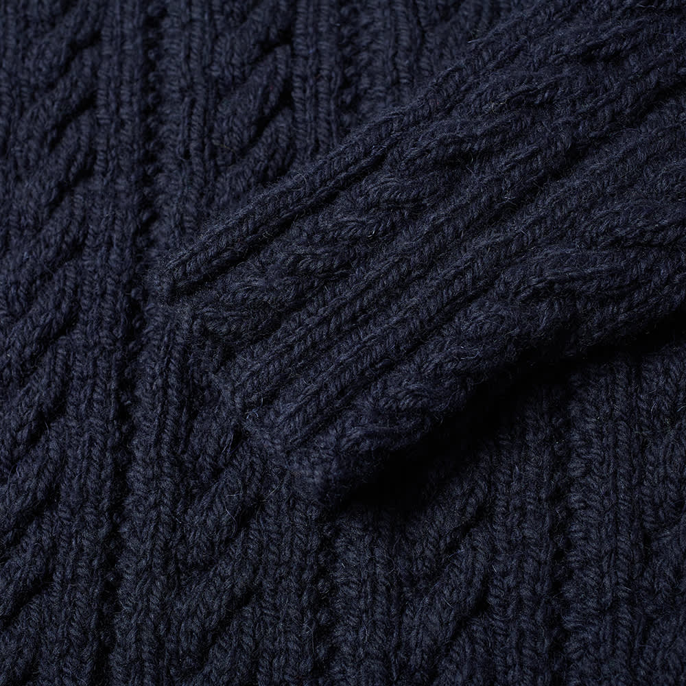 Inverallan 16P Cable Crew Knit - Navy
