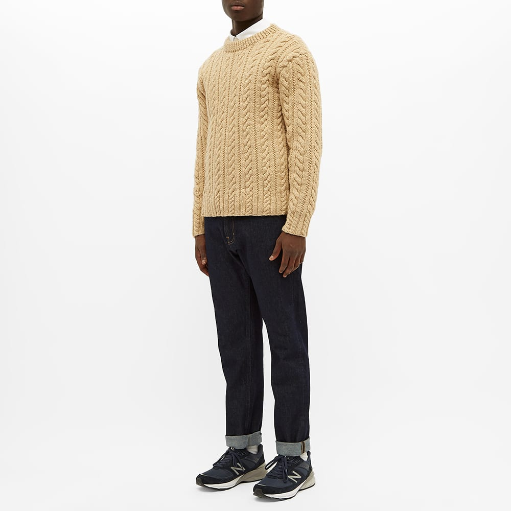 Inverallan 16P Cable Crew Knit - Oatmeal