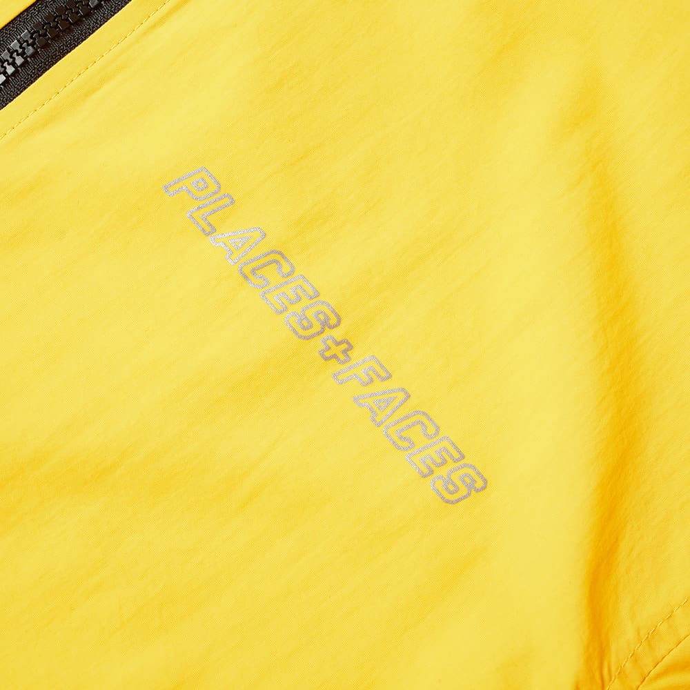 PLACES+FACES Reflective Tape Track Jacket - Yellow