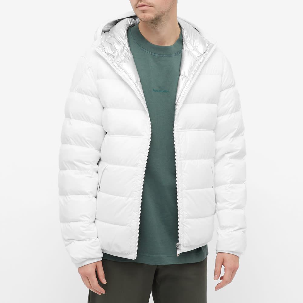 Moncler Freville Reversible Foil Jacket - Silver & White