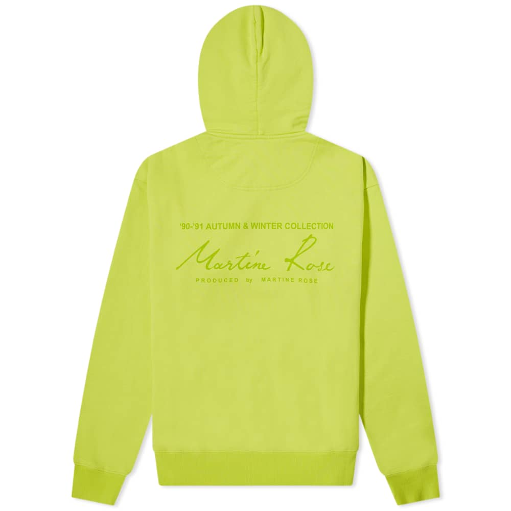 Martine Rose Back Logo Popover Hoody - Apple Green