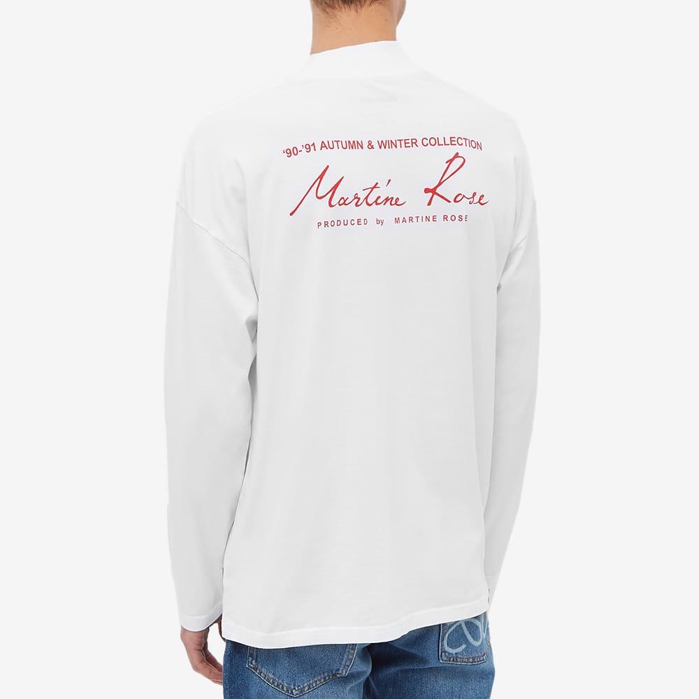 Martine Rose Mock Neck Long Sleeve Tee - White