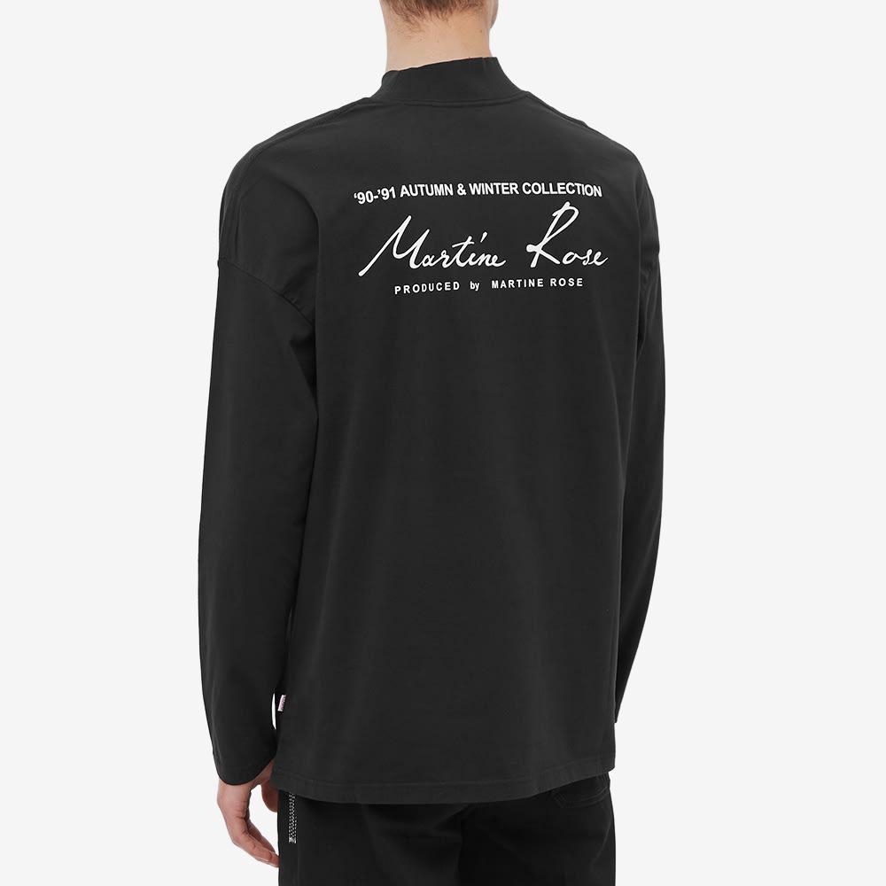 Martine Rose Mock Neck Long Sleeve Tee - Black