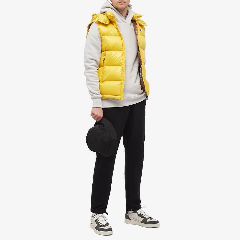 Moncler Bormes Hooded Down Gilet - Yellow