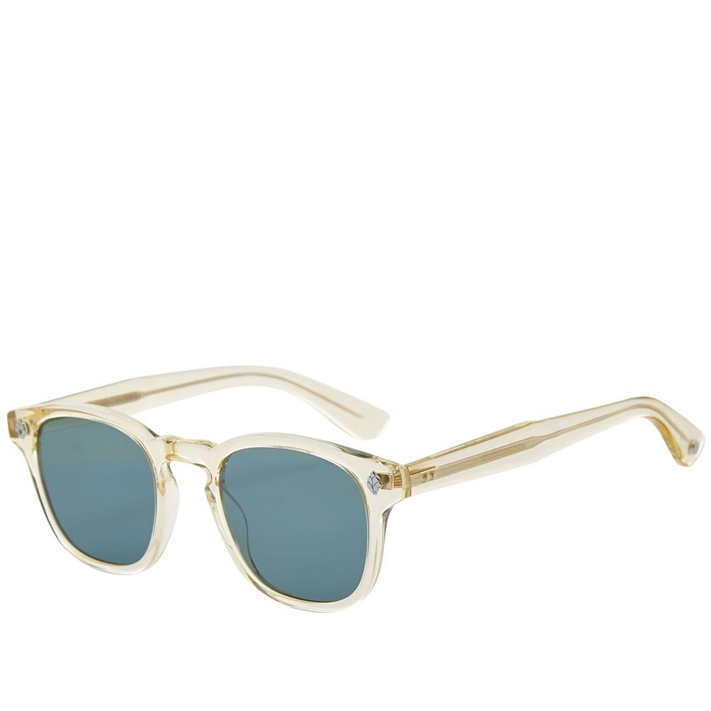 Garret Leight Ace Sunglasses - Pure Glass & Pure Green