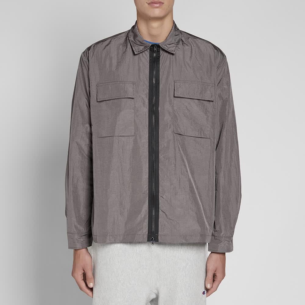 MKI Nylon Zip Shirt Jacket - Charcoal