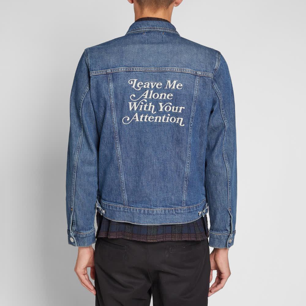 Wood Wood Angel Denim Jacket - Mid Blue