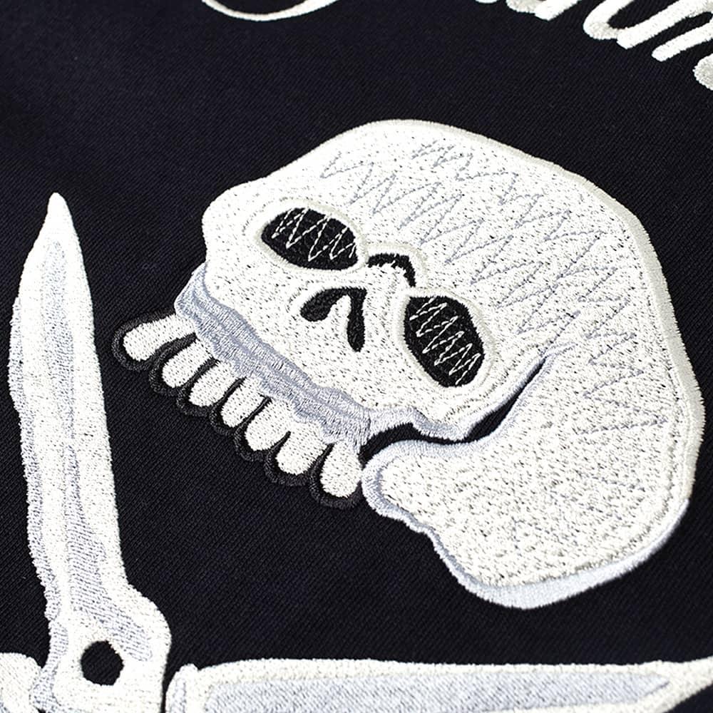 DENHAM Wellington Embroidered Tee - Caviar