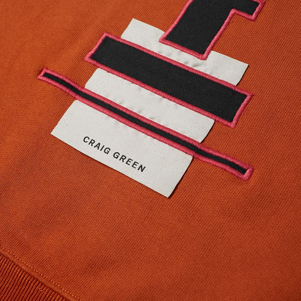 Champion x Craig Green Cut & Sew 60s Crew Sweat - Black & Orange