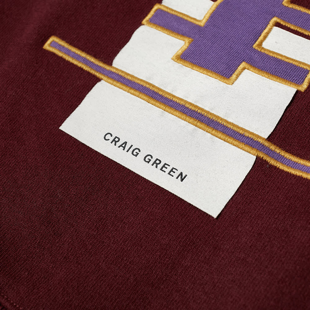 Champion x Craig Green Cut & Sew 70s Crew Sweat - Black & Burgundy