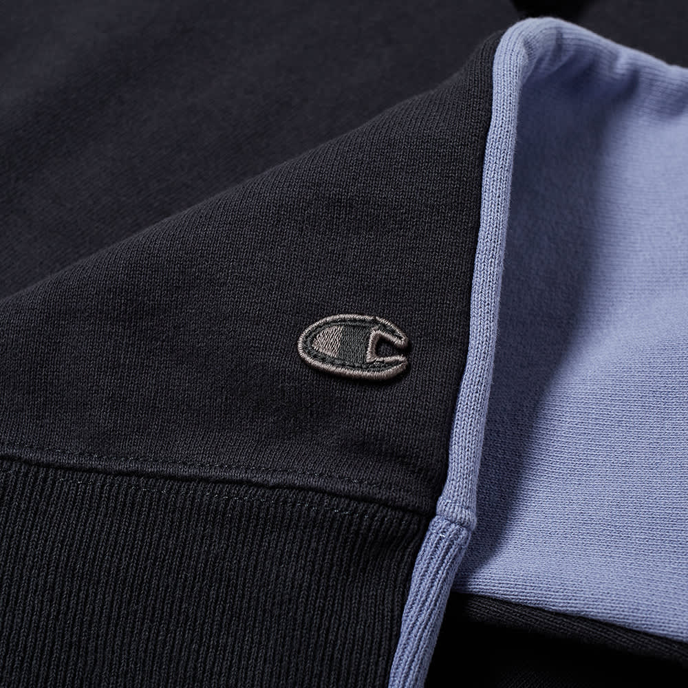 Champion x Craig Green Cut & Sew 90s Half Zip - Black & Blue