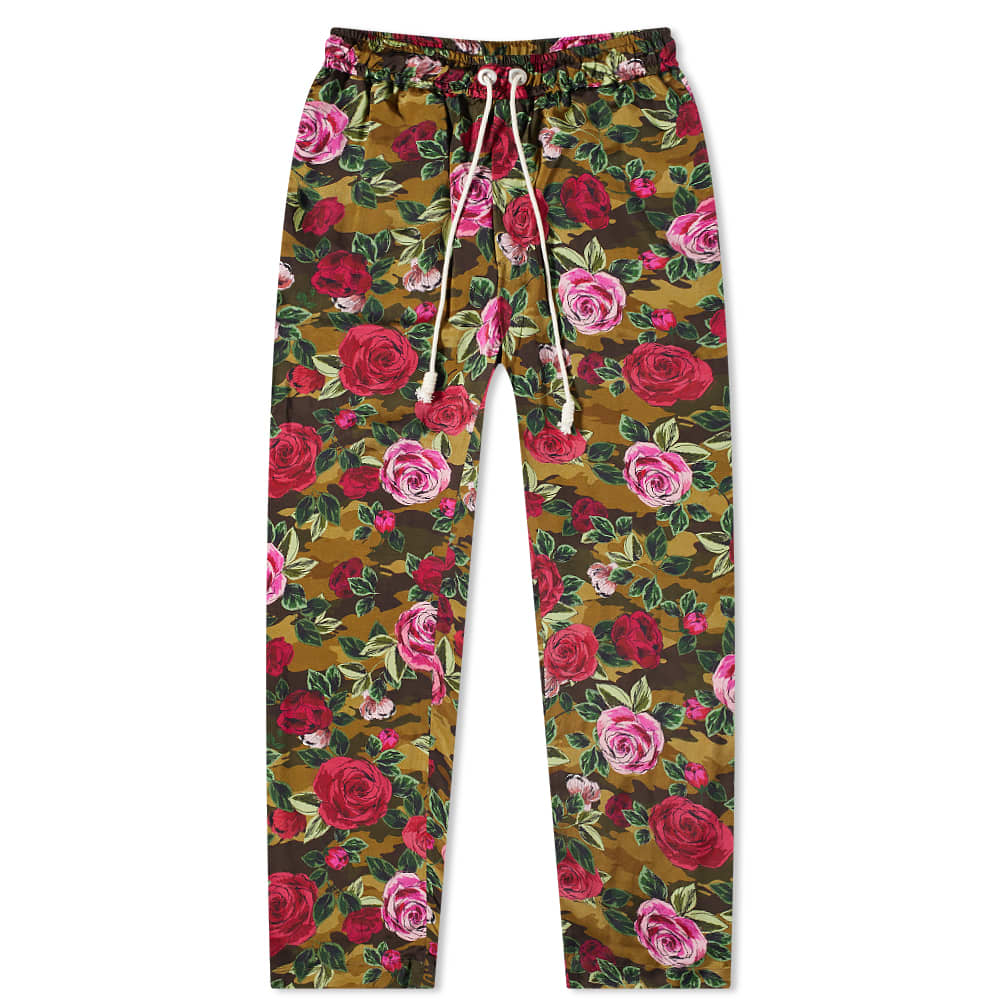 END. x Palm Angels Allover Camo Rose Pajama Pant - Red