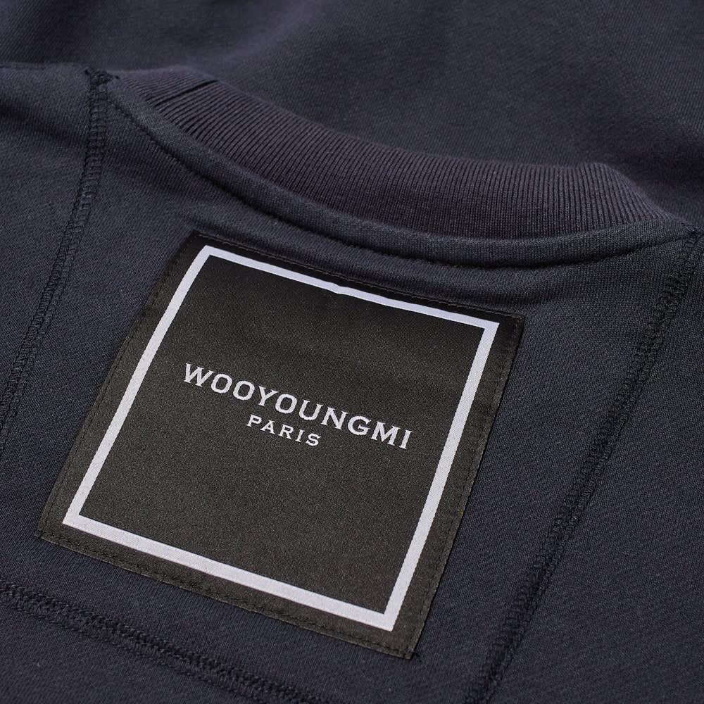 Wooyoungmi Box Logo Crew Sweat - Navy