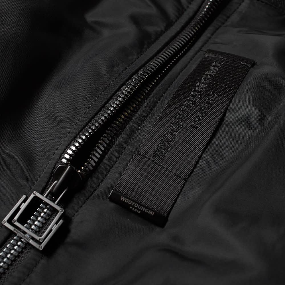Wooyoungmi Logo Bomber Jacket - Black